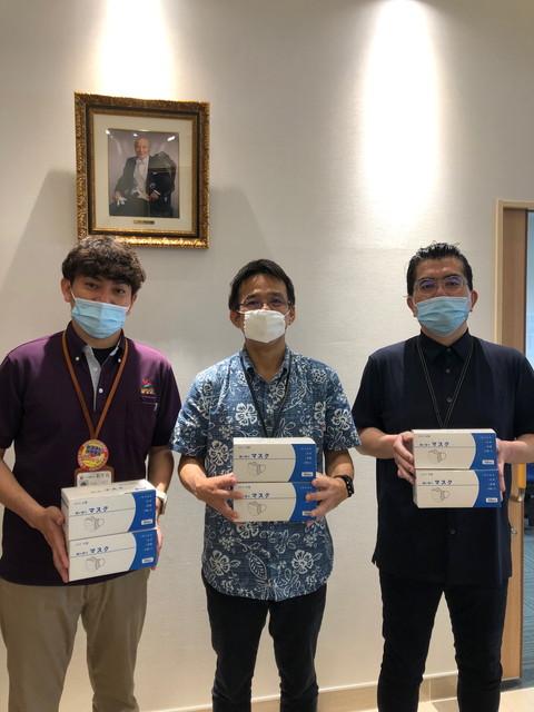 マスクの寄贈